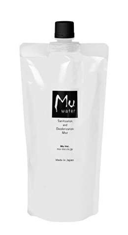 Mu water  -Sanitization & Deodorization Mist- Premium 次亜塩素酸水 レフィルパック