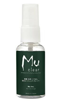 Mu clear -Sterilization & Antifouling Coating Cleaner- 除菌・洗浄・ツヤ出し・防汚コーティング クリーナー 30ml
